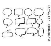 speech bubble icon hand drawn   Shutterstock .eps vector #795791794
