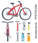 bicycle side and front view ... | Shutterstock .eps vector #795792184