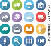 flat vector icon set   delivery ...   Shutterstock .eps vector #795792427
