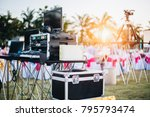 dj mixing equalizer at outdoor... | Shutterstock . vector #795793474