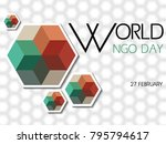 world ngo day on february 27... | Shutterstock .eps vector #795794617