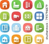 flat vector icon set   home... | Shutterstock .eps vector #795796879
