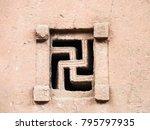 a swastika shaped window of...