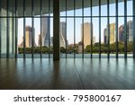 panoramic cityscape from glass... | Shutterstock . vector #795800167
