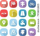 flat vector icon set  ... | Shutterstock .eps vector #795801805