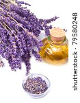 lavender flowers with oil ... | Shutterstock . vector #79580248