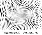 abstract halftone dotted grunge ... | Shutterstock .eps vector #795805375