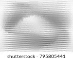 abstract halftone dotted grunge ... | Shutterstock .eps vector #795805441