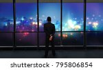 businessman standing and... | Shutterstock . vector #795806854