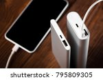 battery bank for charging... | Shutterstock . vector #795809305