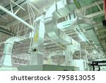 Small photo of Duct ducting, industrial air conditioning system, to the Air Handling Unit