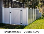Solid privacy vinyl fence with...