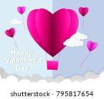 love invitation card valentine... | Shutterstock .eps vector #795817654
