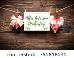 "2 hearts with a message saying ""... 