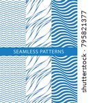 seamless wave pattern. abstract ... | Shutterstock .eps vector #795821377