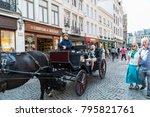 bruges  belgium   august 31 ... | Shutterstock . vector #795821761