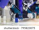 industry 4.0 robot concept .the ... | Shutterstock . vector #795823075