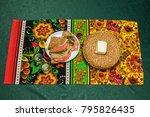 russian festive table | Shutterstock . vector #795826435