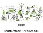 modern flat thin line design... | Shutterstock .eps vector #795826531