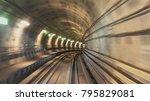 underground railway tunnel | Shutterstock . vector #795829081