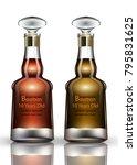 bourbon cognac vector realistic ... | Shutterstock .eps vector #795831625