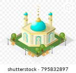 isometric high quality city... | Shutterstock .eps vector #795832897
