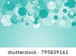 medical network isolated on... | Shutterstock .eps vector #795839161