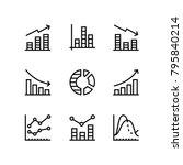 data analysis  chart  diagram... | Shutterstock .eps vector #795840214