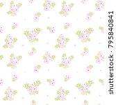 seamless floral pattern.... | Shutterstock .eps vector #795840841