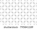 black and white kaleidoscopic... | Shutterstock . vector #795841189