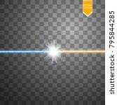 star clash and explosion light... | Shutterstock .eps vector #795844285