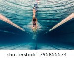 Underwater Picture Of Young...