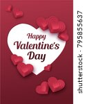 happy valentines day greeting... | Shutterstock .eps vector #795855637