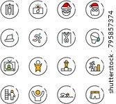 line vector icon set   metal... | Shutterstock .eps vector #795857374