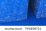 abstract displacement cube and... | Shutterstock . vector #795858721
