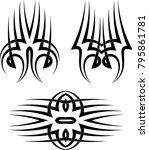 tribal tattoo vector... | Shutterstock .eps vector #795861781