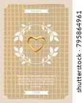 vintage creative card template... | Shutterstock .eps vector #795864961