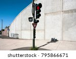 travel to france   red light at ... | Shutterstock . vector #795866671