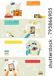time for travel concept...   Shutterstock .eps vector #795866905