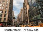 new york   okober 05 2017 ... | Shutterstock . vector #795867535