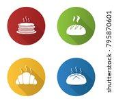 bakery flat design long shadow...   Shutterstock .eps vector #795870601