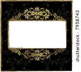 gold floral frame | Shutterstock .eps vector #7958743