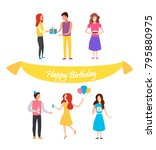 collection of people... | Shutterstock .eps vector #795880975