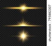 yellow sun light flare effect.... | Shutterstock .eps vector #795882307