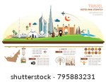 infographics travel and... | Shutterstock .eps vector #795883231