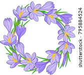 Spring Flower Wreath Of...