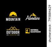 logo collection of outdoor... | Shutterstock .eps vector #795884629