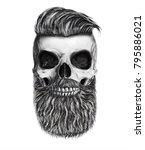 skull illustration.t shirt... | Shutterstock . vector #795886021