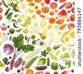 seamless pattern of various... | Shutterstock . vector #795886147