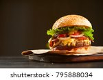 mouth watering delicious... | Shutterstock . vector #795888034